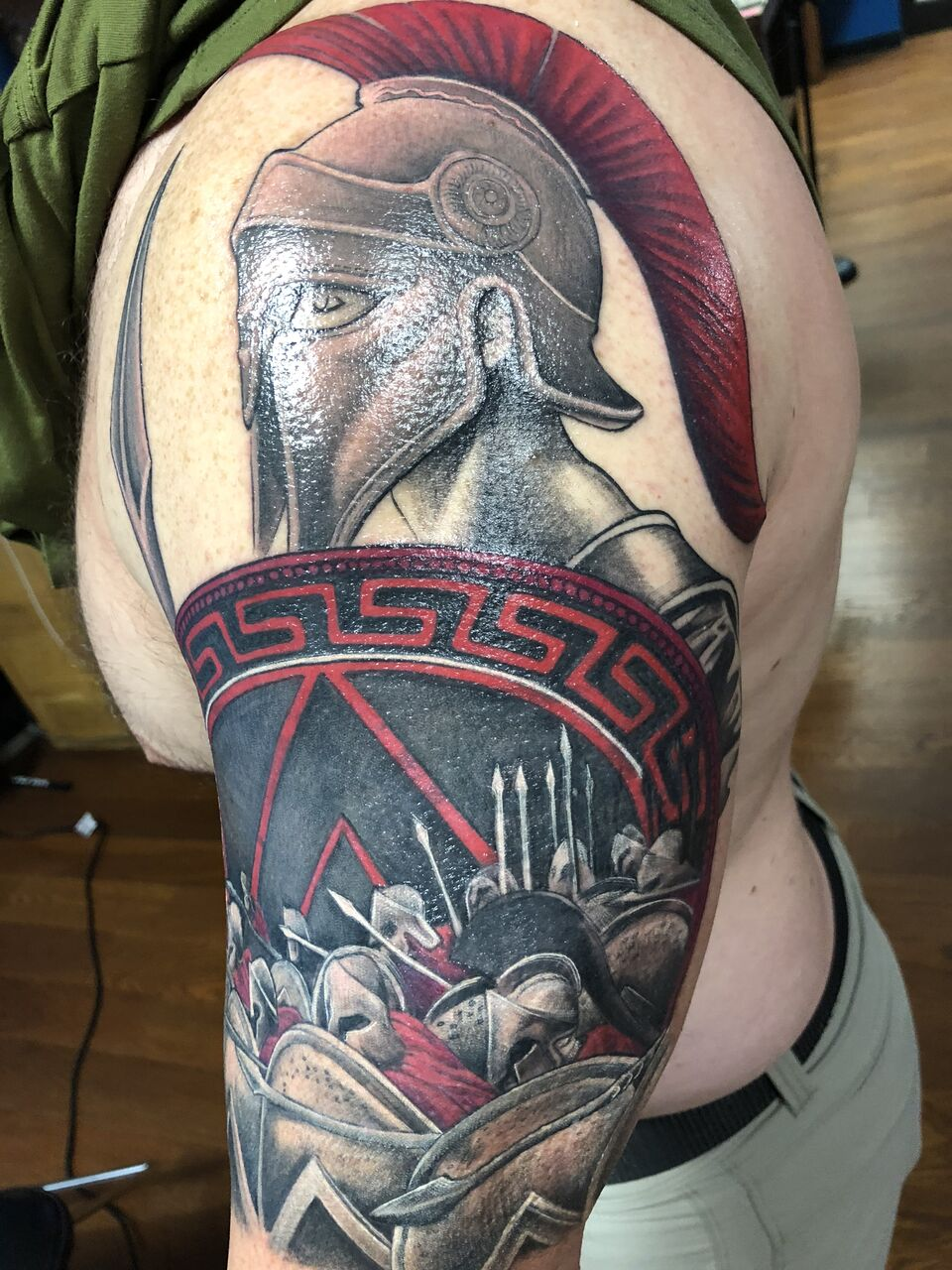 spartan coverup tattoo