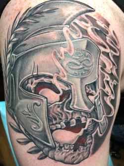 Grecian warrior skeleton head
