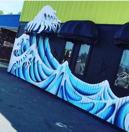 finger wave mural