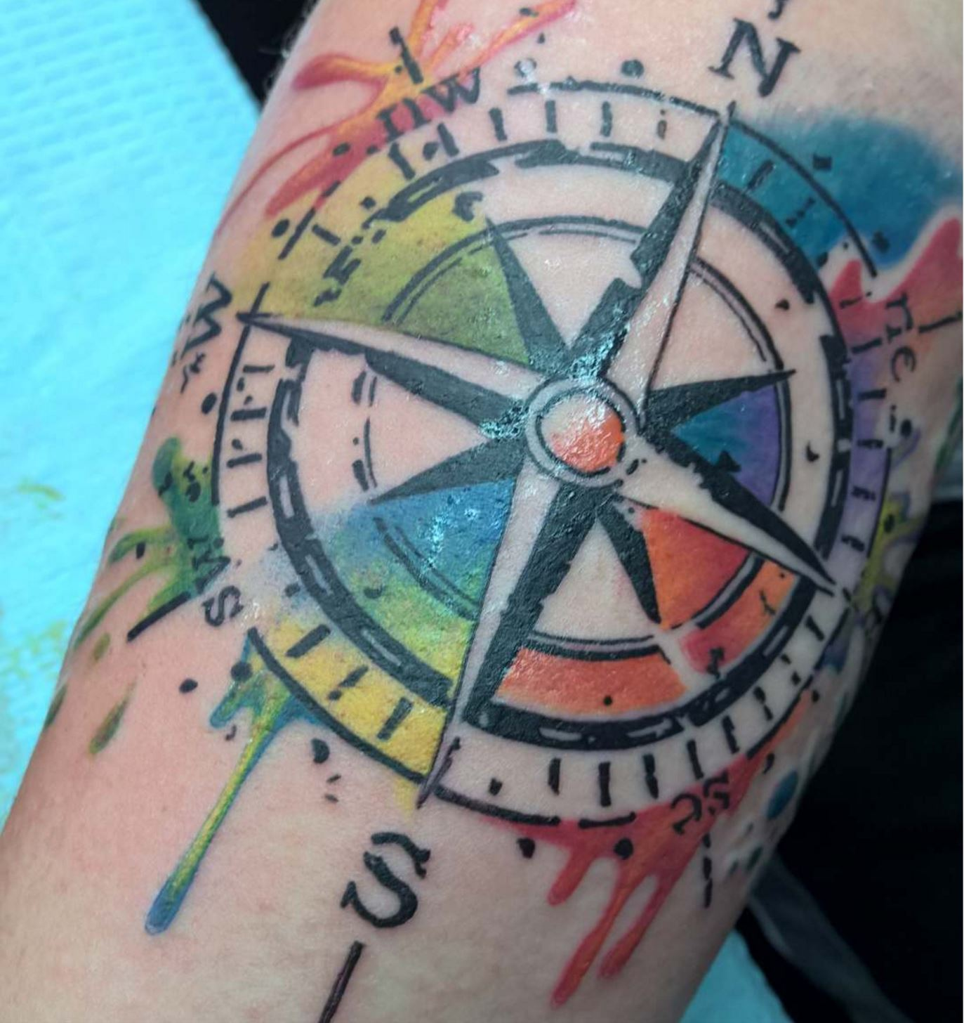 Water color compass
