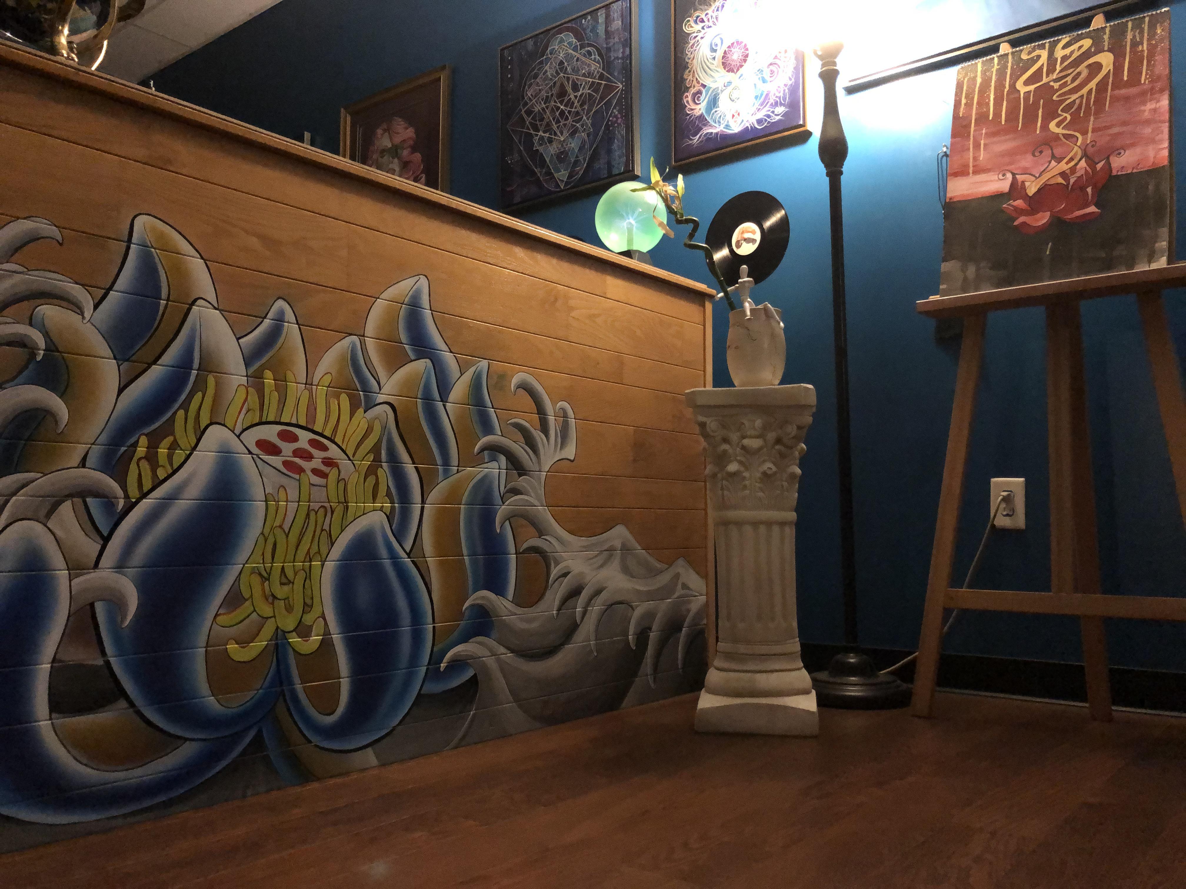 mural, painting, airbrush