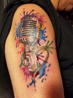 microphone ink splatter