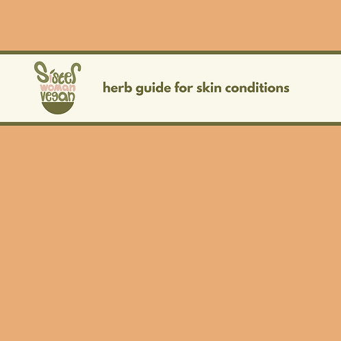 herb guide for skin conditions