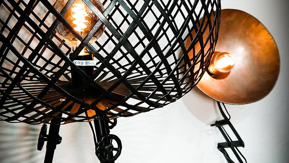 XXL Metall Korb Stehlampe