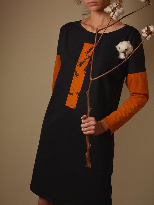 Vestido Mármore - laranja