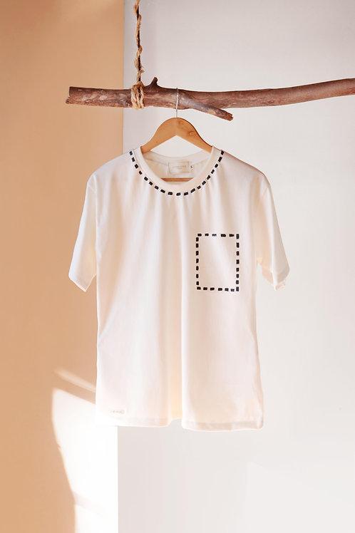 Camiseta Croqui - branca
