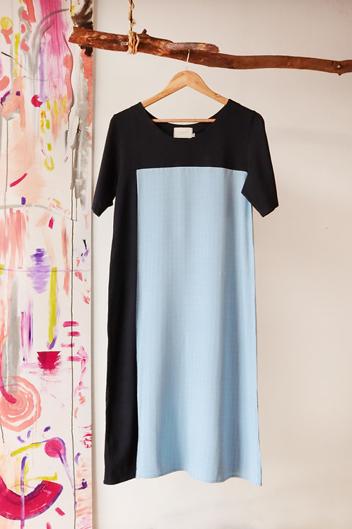 Vestido Janela - Azul