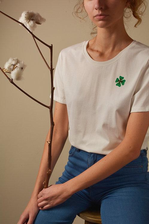 Camiseta Trevo - branca