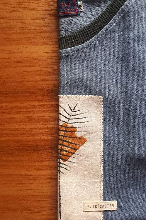 Camiseta Quadro - azul