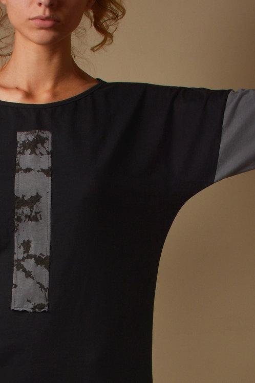 Camiseta Mármore -cinza azulado