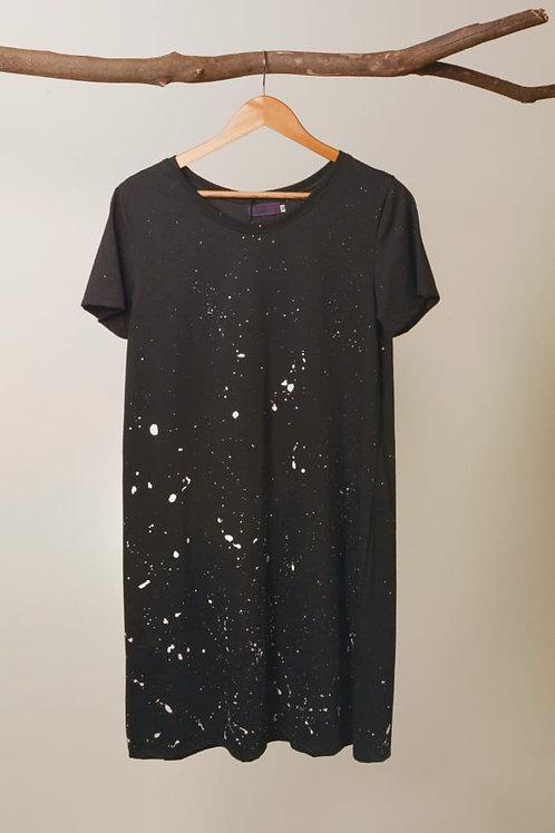 Vestido Pintinhas - preto