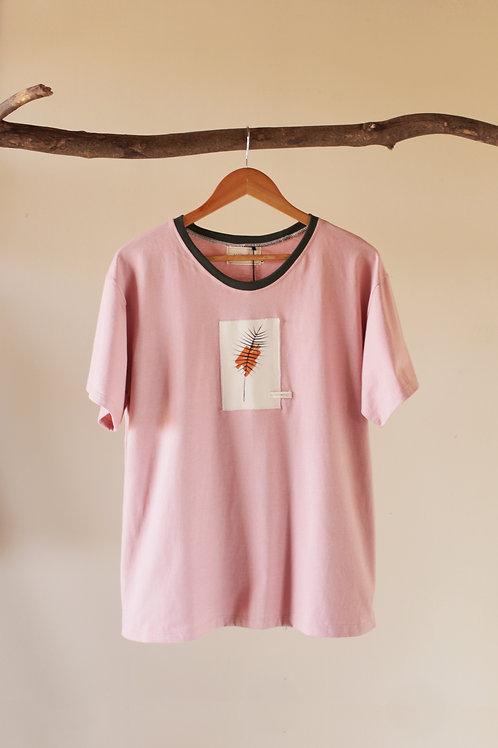 Camiseta Quadro - rosa