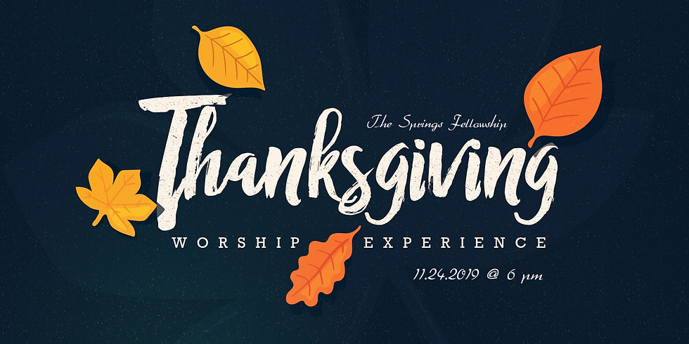 Thanksgiving Worship Experience