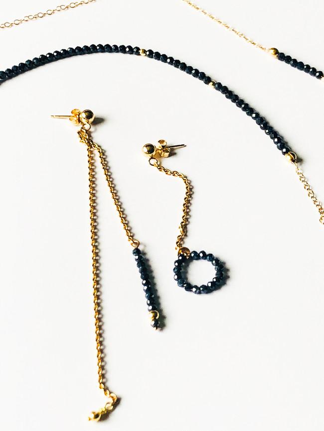 """STARRY NIGHT"" | earrings & necklace set"
