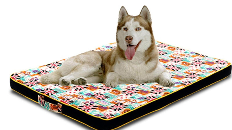 Large Dog Bed Mat Puppy Sofa Thick Orthopedic Mattress