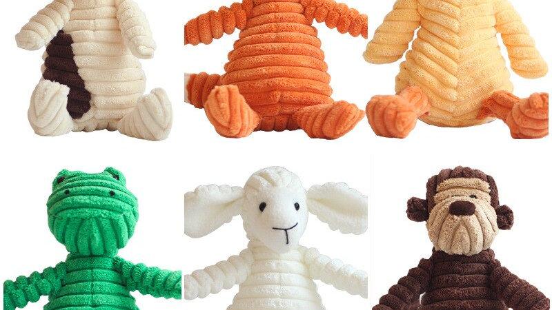 Corduroy Squeaky Chew Pet Dog Toys