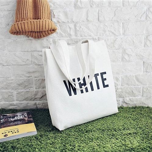 Väska, WHITE i canvas med dragkedja och innerficka