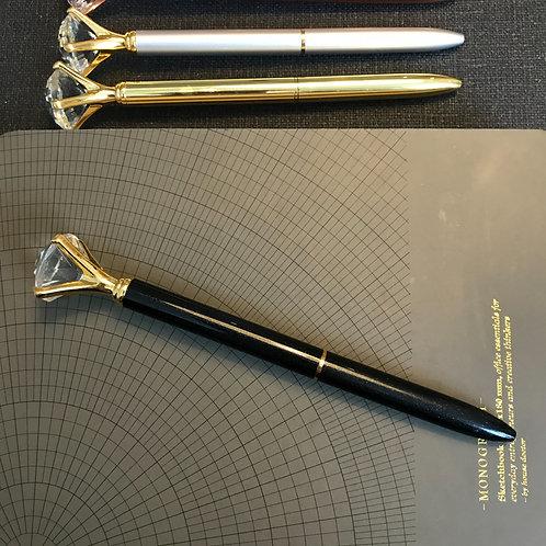 Diamantpenna, SVART, svart bläck