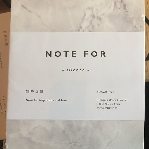 NOTE FOR SILENCE, MARMOR