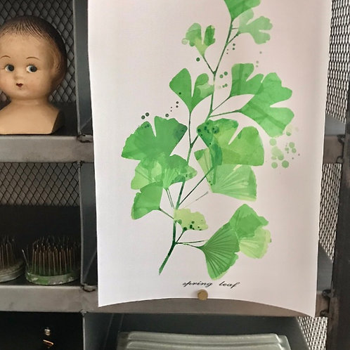 POSTER, A4, LEAVES, TRYCK PÅ CANVAS