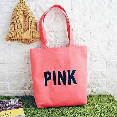 Väska, PINK, canvas med dragkedja och innerficka