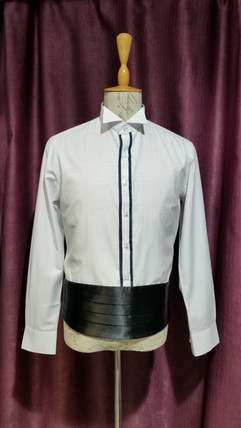 藍邊禮服bow tie裇衫.jpg