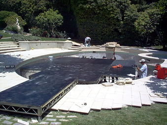 Bill Ferrell Co. turns pools into solid stages for TV, film and special events