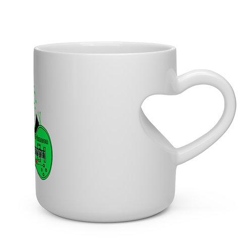 Never Stop What You Love Heart Shape Mug