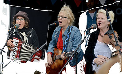IOTA band Sally Barker annA rydeR Marion Fleetwood at Cropredy