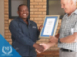 Caiphus Molefe Celebrates 10 years servi