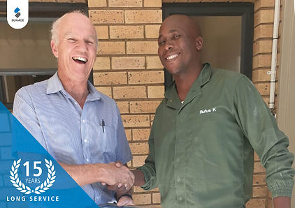 Rufus Kganyago 15 years long service awa