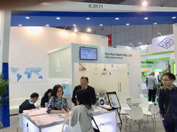 The Sun Ace booth at ChinaPlas 2018