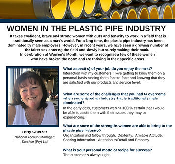 Women in business, Terry Coetze, Sun Ace South Africa