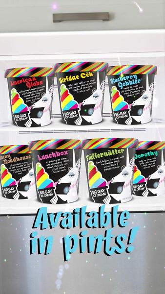 Big Gay Ice Cream Pint Launch on Social