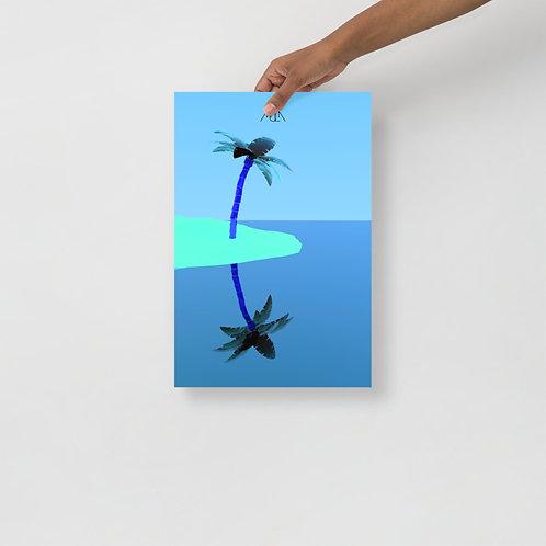 Póster Palma Azul 12x18