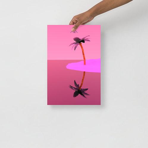 Póster Palma Rosa 12x18