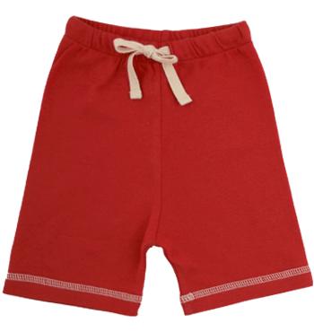 Drawstring Shorts Red 0-3m, Nature Baby 