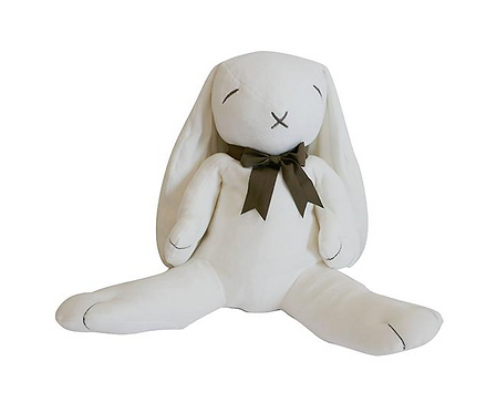Giant Ears The Bunny Organic Toy, White/Pink - MaudnLil