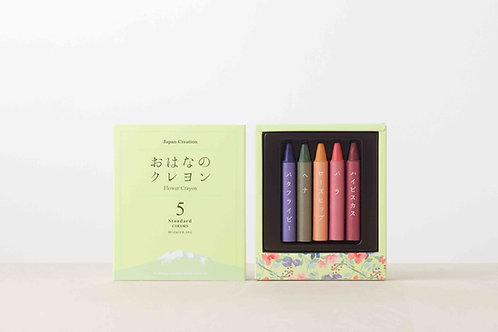 All-Natural Flower Crayons 5 colors, Mizuiro