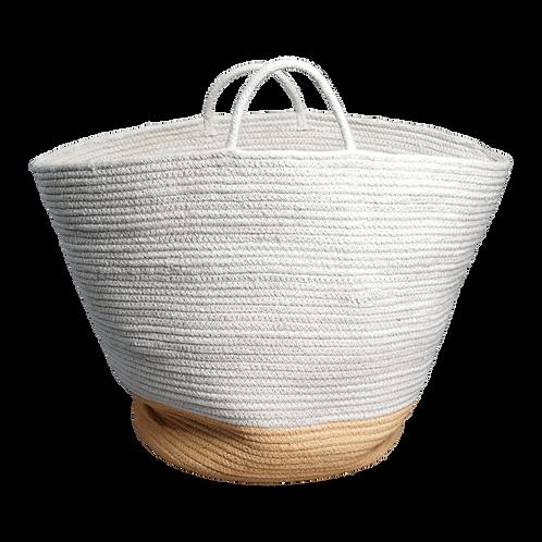Organic Rope Basket Ochre - Large, Fabelab