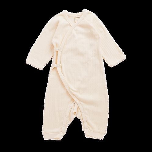Organic Cotton Newborn Onesie Pointelle, Nature Baby