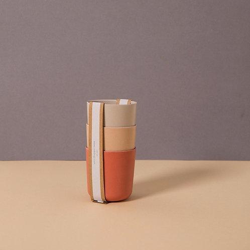 Bamboo Mug 3-pack Fog/Rye/Brick, Cink