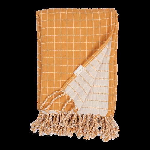 Organic Cotton Baby Blanket Ochre, Fabelab