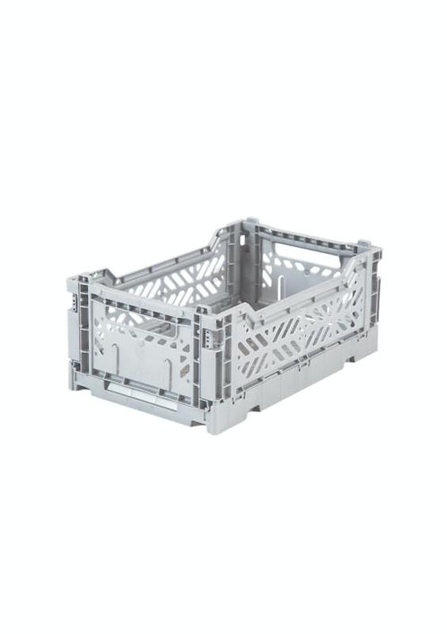 Mini Box Storage Crate - Light Grey, Aykasa