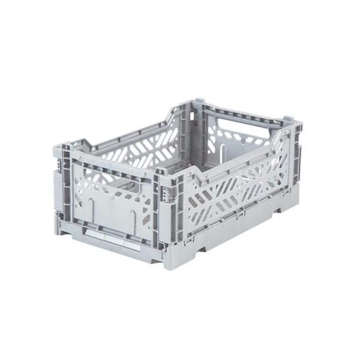 Mini Box Storage Crate - Light Grey, Aykasa