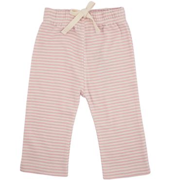 Drawstring Pants Pink Stripes 12m, Nature Baby