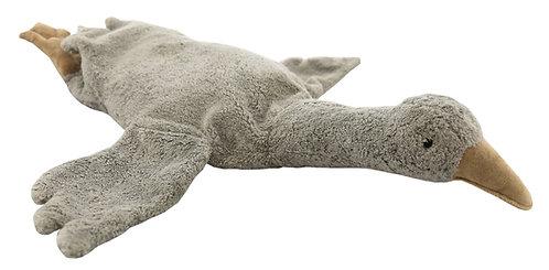 Organic Cuddly Animal / Heat Cushion - Goose Small Grey, Senger Naturwe