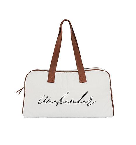 Weekender Bag - organic cotton & eco faux leather bag, Ooh Noo