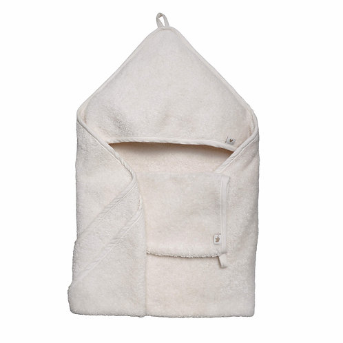 Hooded Towel Vanilla Organic Cotton, Petit Stellou