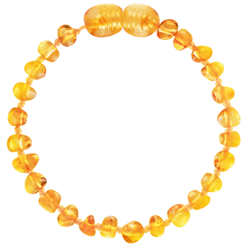 Premium Amber Baby Teething Bracelet Honey, Made by Nature